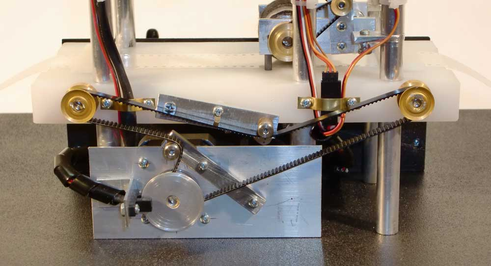 A turing machine the hardware for Pan tilt stepper motor
